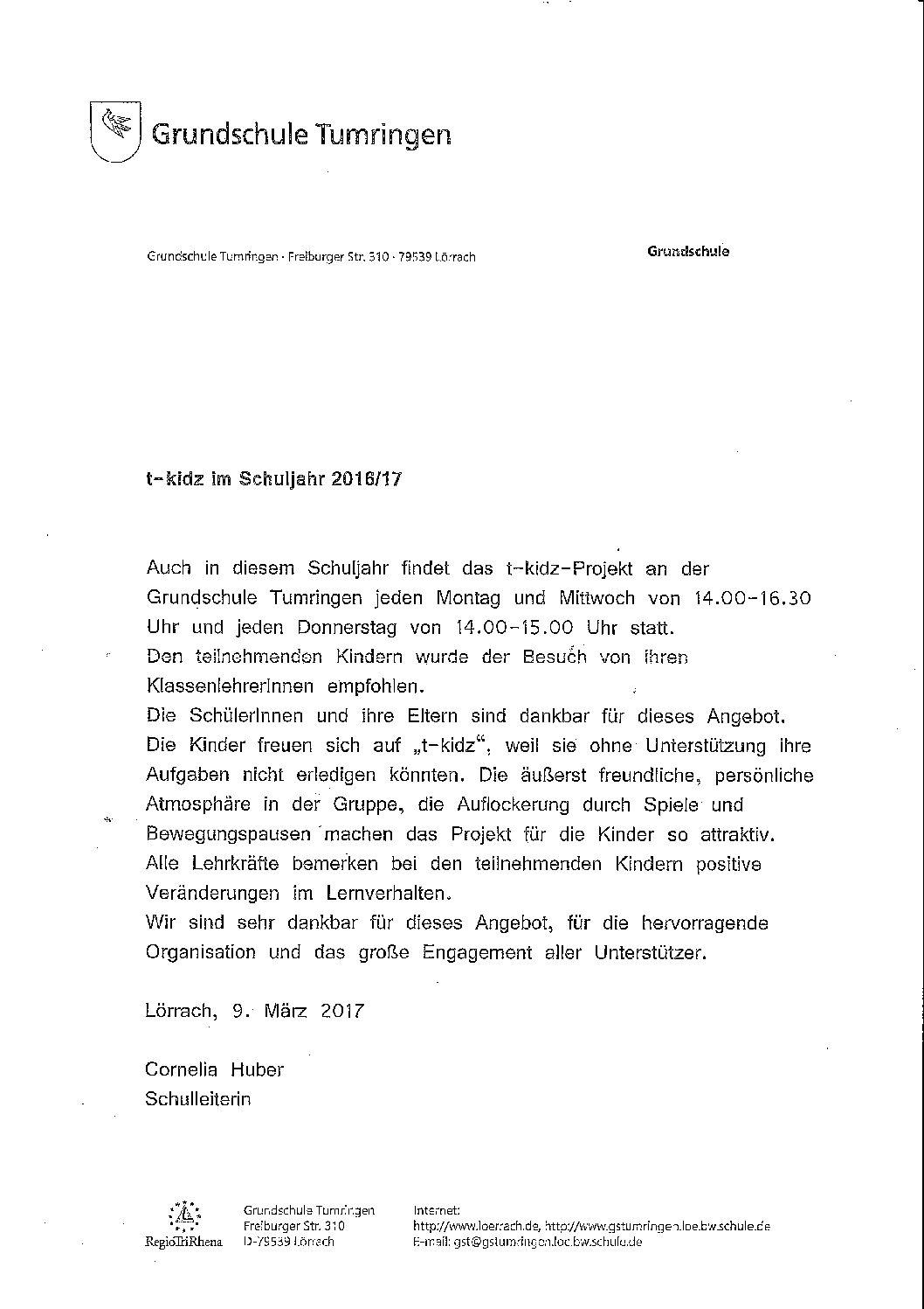 Cornelia Huber - Grundschule Tumringen